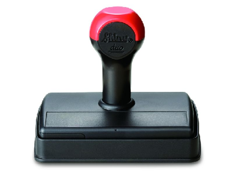 Handy Rectangular Stamp Shiny Duo With Cover And Ink Pad