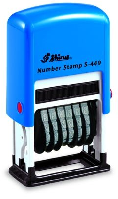 AUTOMATIC NUMBER STAMP SHINY S-409 /  6 digits